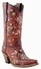 """Store Special Size 5.5 Womens Lucchese Since 1883 Red Oklahoma Calf M5025<Font color=""""Red""""> B</Font>"""