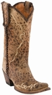 """Store Special Size 5.5 Womens Lucchese Since 1883 Catania Camel Cheetah Print Cowgirl Boots M5040 <Font color=""""Red"""">B</Font>"""