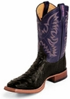 Tony Lama Boots Mens Exotic USTRC Stockman Black Full Quill Ostrich Boots 8996