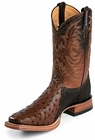 Tony Lama Boots Mens Exotic USTRC Stockman Coffee Full Quill Ostrich Boots 8998