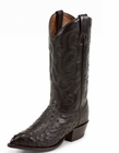 Tony Lama Boots Mens Exotic Western  Black Ostrich CY885
