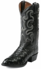 Tony Lama Boots Mens Exotic Western Cowboy Black Full Quill Ostrich Boots CZ882