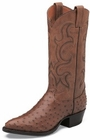 Tony Lama Boots Mens Exotic Western Cowboy Coffee Full Quill Ostrich Boots CZ877