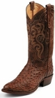 Tony Lama Boots Mens Exotic Western Cowboy Coffee Vintage Full Quill Ostrich Boots 8965