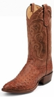 Tony Lama Boots Mens Exotic Western Cowboy Cognac Vintage Full Quill Ostrich Boots 8963
