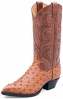 Tony Lama Boots Mens Exotic Western Cowboy Peanut Brittle Full Quill Ostrich Boots 8867