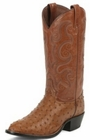 Tony Lama Boots Mens Exotic Western Cowboy Peanut Brittle Ostrich Boots CT834