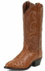Tony Lama Boots Mens Exotic Western Cowboy Peanut Brittle Ostrich Boots CZ800