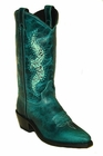 Women's Abilene Western with Tooled Inserts Genuine Leather Outsole Snip Toe 9143