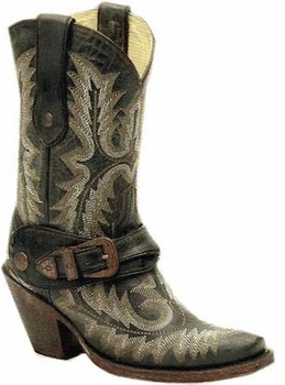 Women's Corral Brown Stitched Harness Boot G1905