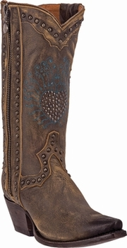 "Women's Dan Post ""Heart Breaker"" Brown Vintage Distressed Leather Boot DP3441"
