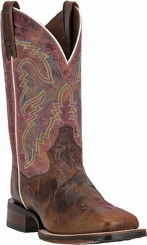"Women's Dan Post ""Teton"" Chestnut & Fuschia Lava Cowboy Certified Boot DP3844"
