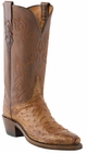 "Women's Lucchese ""Lillian"" Barnwood Pin Ostrich Boots N4062"