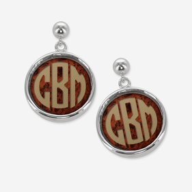 Acrylic Monogram Drop Post Earrings