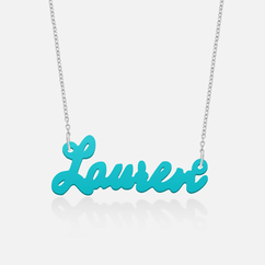 "Acrylic Name Necklace ""Lauren"""