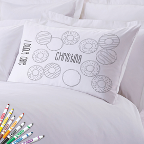 Add Color Kids Custom Donut Care Pillowcase