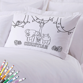 Add Color Kids Friendly Animals Custom Pillowcase