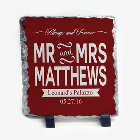 Always and Forever Couples Personalized Slate