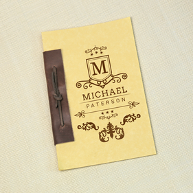 Antique Style Personalized Notebook
