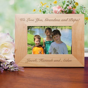 Any Message Wood Picture Frame