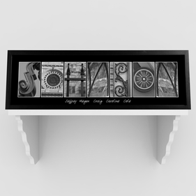 Personalized Architectural Elements III Black and White Prints