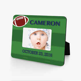 Custom Football Baby Hardboard Picture Frame