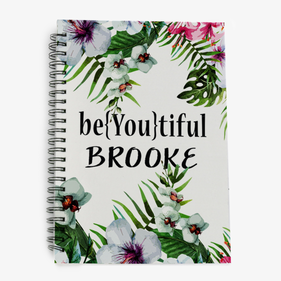 Be{You}tiful Floral Personalized Spiral Notebook