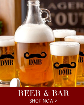 Beer Mugs & Growlers - use code BAR50 for 50% Off