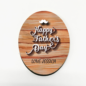 Custom Father's Day Mustache Refrigerator Magnet