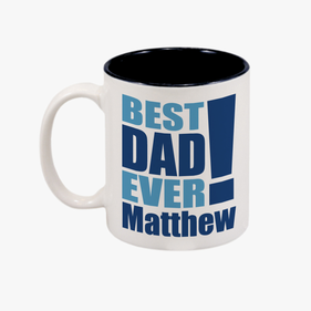 Best Dad Ever! Personalized Coffee Mug