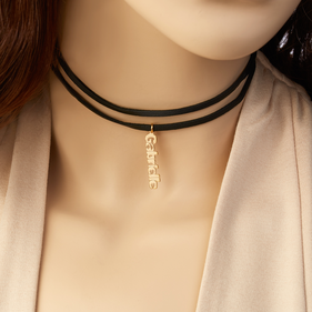 Double Choker Necklace Personalized with Name