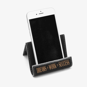 Black Success Leatherette Holder Easel