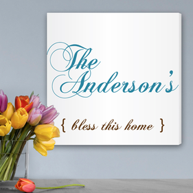 Bless Personalized Canvas Print