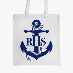 Blue Anchor Monogram Kids Small Tote Bag