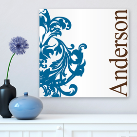 Personalized Blue Canvas Print