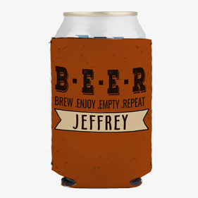 Brew Enjoy Empty Repeat Custom Can Beverage Holder