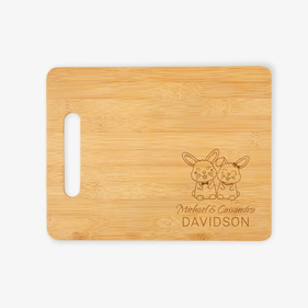 Bunny Personalized Wooden Cutting Board