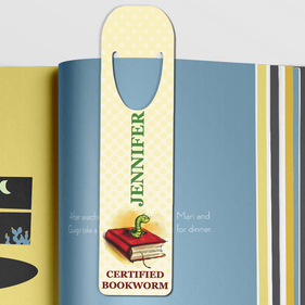 Certified Bookworm Personalized Bookmark