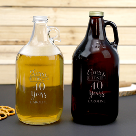Cheers Personalized Name Beer Growler