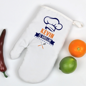 Chef's Grilling Personalized Oven Mitt