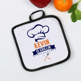 Chef's Grilling Personalized Pot Holder