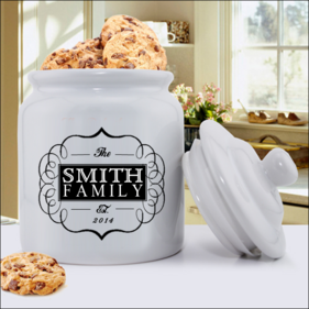 Classic Family Personalized Ceramic Cookie Jar