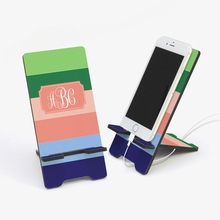 Color Stripes Design Personalized Cell Phone Stand