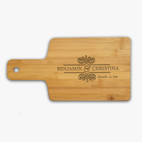Couple Name Custom Wooden Serving Board
