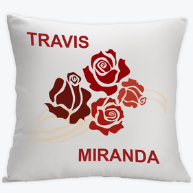 Couples Rose Cushion Cover