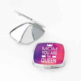 Crown Personalized Square Shaped Compact Mirror
