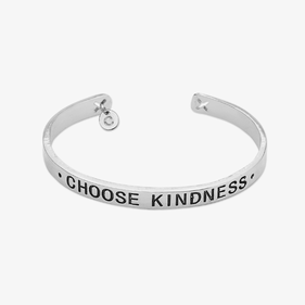 Choose Kindness Custom Cuff Bracelet with Initial Charm