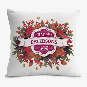 Custom Happy Thanksgiving Decorative Cushion Cover