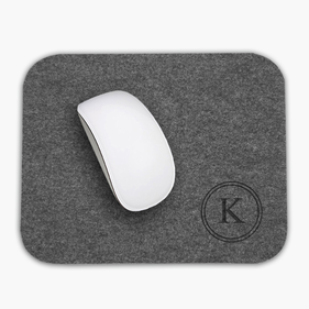 Custom Initial Rectangular Felt Mouse Pad