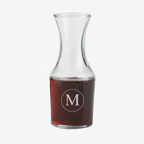 Personalized Initial Small Wine Carafe